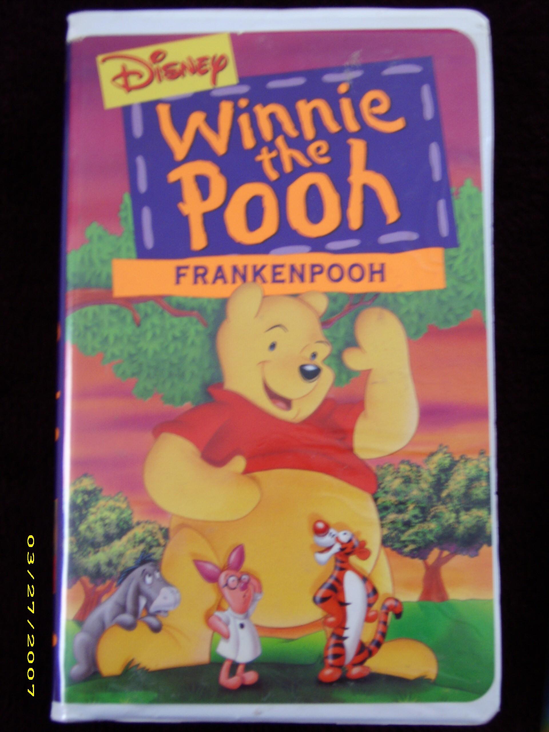 Winnie the pooh frankenpooh vhs